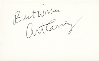 ART CARNEY - AUTOGRAPH SENTIMENT SIGNED