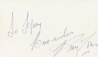 PERRY COMO - AUTOGRAPH NOTE SIGNED