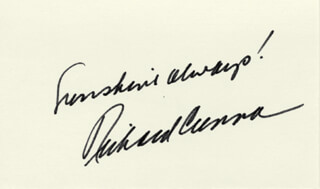 RICHARD CRENNA - AUTOGRAPH SENTIMENT SIGNED