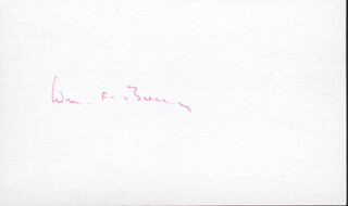 WILLIAM F. BUCKLEY JR. - AUTOGRAPH