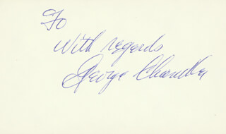GEORGE CHANDLER - AUTOGRAPH