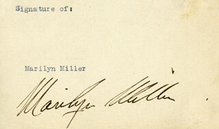 MARILYN MILLER - AUTOGRAPH