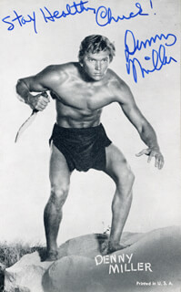 DENNY MILLER - AUTOGRAPHED INSCRIBED PHOTOGRAPH