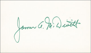 BRIGADIER GENERAL JAMES A. McDIVITT - AUTOGRAPH