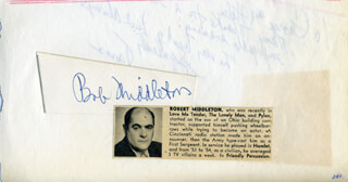 ROBERT MIDDLETON - AUTOGRAPH CO-SIGNED BY: SPERIE KARAS