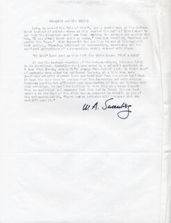 WILLIAM A. SWANBERG - TYPESCRIPT SIGNED