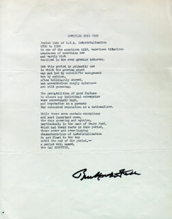 Autographs: BUCKMINSTER FULLER - TYPESCRIPT SIGNED