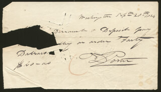 Autographs: COMMODORE DAVID PORTER - AUTOGRAPH CHECK SIGNED 09/20/1824