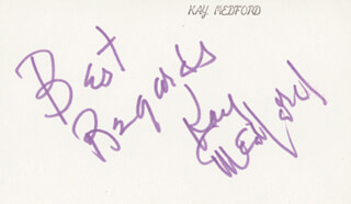 KAY MEDFORD - AUTOGRAPH SENTIMENT SIGNED