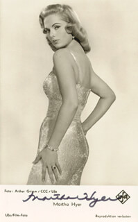 MARTHA HYER - PICTURE POST CARD SIGNED