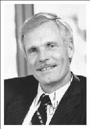 TED TURNER - AUTOGRAPHED SIGNED PHOTOGRAPH