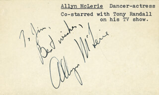 ALLYN McLERIE - AUTOGRAPH NOTE SIGNED