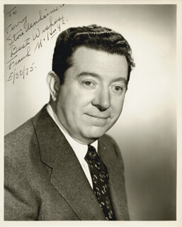 FRANK McHUGH - AUTOGRAPHED INSCRIBED PHOTOGRAPH 05/30/1975