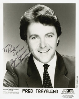 FRED TRAVALENA - AUTOGRAPHED INSCRIBED PHOTOGRAPH