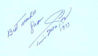 TIM McCOY - AUTOGRAPH SENTIMENT SIGNED 1973