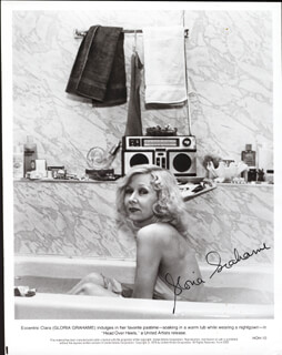 GLORIA GRAHAME - PRINTED PHOTOGRAPH SIGNED IN INK