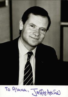 Autographs: JEFFREY ARCHER - INSCRIBED PHOTOGRAPH SIGNED