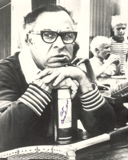 ART BUCHWALD - AUTOGRAPHED SIGNED PHOTOGRAPH