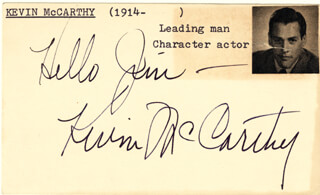 KEVIN McCARTHY - AUTOGRAPH NOTE SIGNED