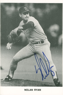 NOLAN RYAN - PRINTED PHOTOGRAPH SIGNED IN INK