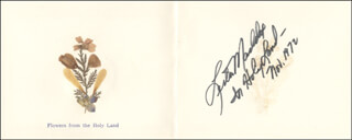 GOVERNOR LESTER G. MADDOX - GREETING CARD SIGNED 11/1972