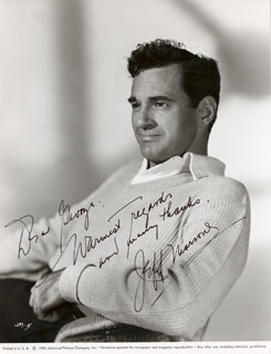 JEFF MORROW - AUTOGRAPHED SIGNED PHOTOGRAPH