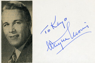 WAYNE MORRIS - INSCRIBED SIGNATURE