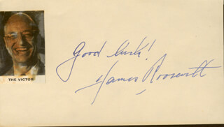 JAMES ROOSEVELT - AUTOGRAPH SENTIMENT SIGNED