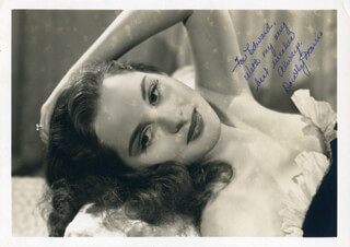 DOROTHY MORRIS - AUTOGRAPHED INSCRIBED PHOTOGRAPH