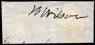 VICE PRESIDENT HENRY WILSON - AUTOGRAPH
