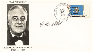 Autographs: I. W. ABEL - COMMEMORATIVE ENVELOPE SIGNED