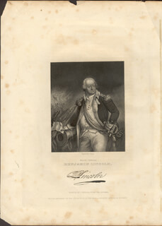 MAJOR GENERAL BENJAMIN LINCOLN - ENGRAVING UNSIGNED