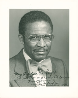 HORACE G. DAWSON JR. - AUTOGRAPHED SIGNED PHOTOGRAPH 1982