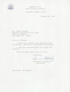 THERESA A. HEALY - TYPED NOTE SIGNED 01/26/1982