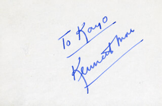 KENNETH MORE - INSCRIBED SIGNATURE