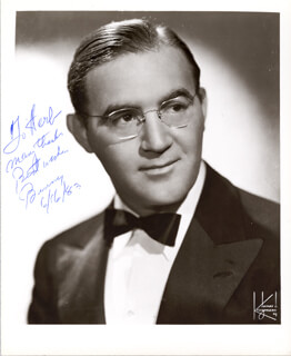BENNY GOODMAN - AUTOGRAPHED INSCRIBED PHOTOGRAPH 06/16/1983