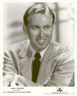 GUY LOMBARDO ORCHESTRA (KENNY GARDNER) - AUTOGRAPHED SIGNED PHOTOGRAPH