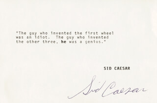 SID CAESAR - TYPED QUOTATION SIGNED