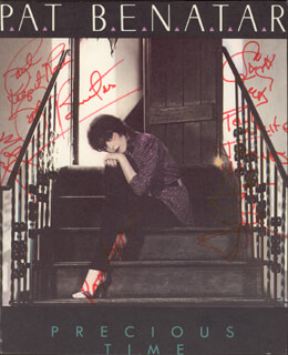 PAT BENATAR - INSCRIBED PRINTED PHOTOGRAPH SIGNED IN INK