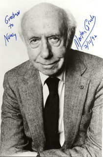 MORTON GOULD - AUTOGRAPHED INSCRIBED PHOTOGRAPH 03/11/1992