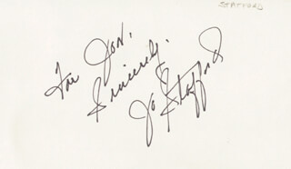 JO STAFFORD - AUTOGRAPH NOTE SIGNED