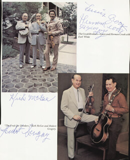 HERMAN CROOK - MAGAZINE PHOTOGRAPH SIGNED CO-SIGNED BY: LEWIS CROOK, HUBERT GREGORY, KIRK MCGEE