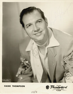 HANK THOMPSON - AUTOGRAPHED SIGNED PHOTOGRAPH