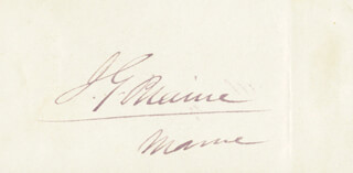 Autographs: JAMES G. BLAINE - SIGNATURE(S)