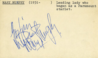 MARY MURPHY - AUTOGRAPH NOTE SIGNED