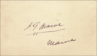 JAMES G. BLAINE - AUTOGRAPH