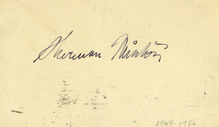 ASSOCIATE JUSTICE SHERMAN MINTON - POST CARD SIGNED CIRCA 1956