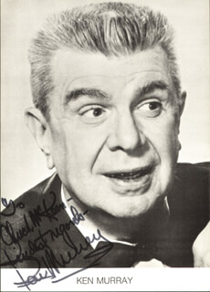 KEN MURRAY - AUTOGRAPHED INSCRIBED PHOTOGRAPH