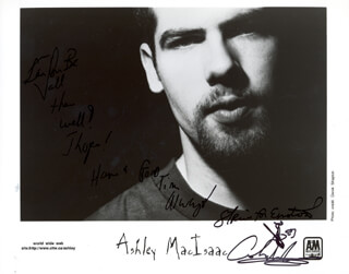 ASHLEY MacISAAC - AUTOGRAPHED SIGNED PHOTOGRAPH