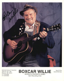 BOX CAR WILLIE - AUTOGRAPHED SIGNED PHOTOGRAPH